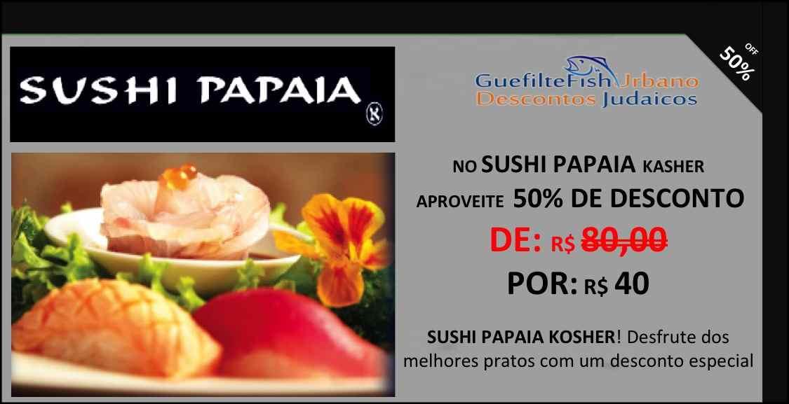 | SUSHI PAPAIA K # 50% OFF - CUPOM DESCONTO JANEIRO e FEVEREIRO 2015